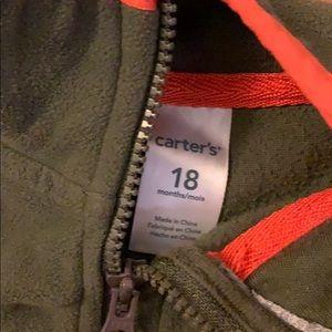 Carter's Shirts & Tops - EUC Army Green Fleece